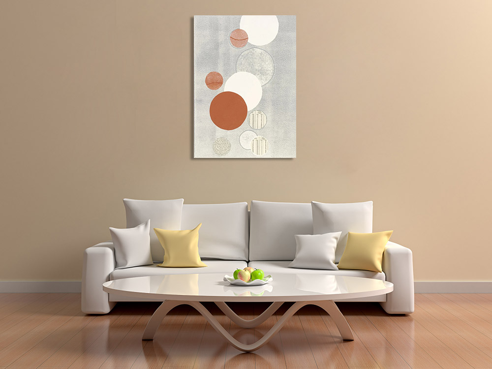 Collage Circles Art Print on Canvas