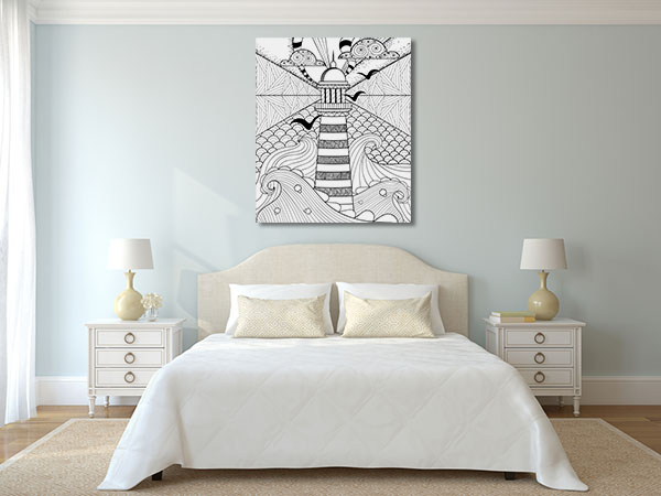 Lighthouse and Sea Canvas Prints