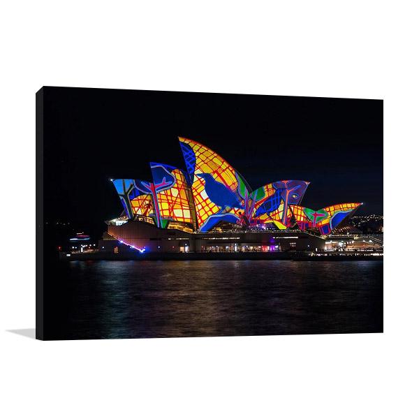 Lighting of Sydney Opera Canvas Print
