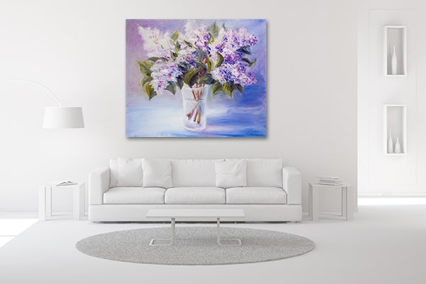 Lilacs Print Art Canvas