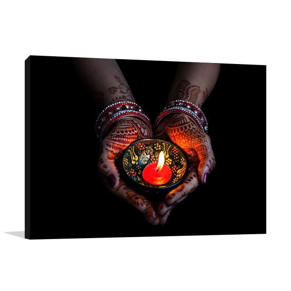 Lit Candle Canvas Art Prints