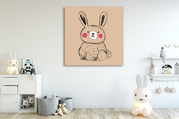 Little Bunny Prints Canvas