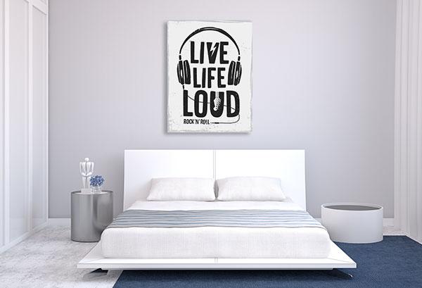 Live Life Loud Canvas Prints