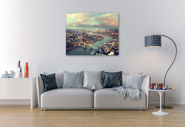 London Aerial View Sunset Canvas Prints