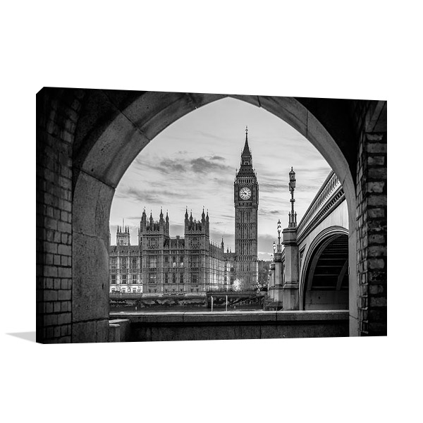 London Big Ben Tower Print on Canvas