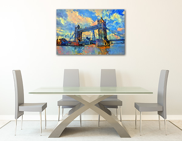London Bridge Architecture Canvas Art Prints