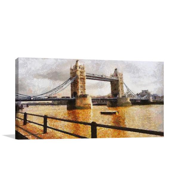 London Bridge Realistic Canvas Prints