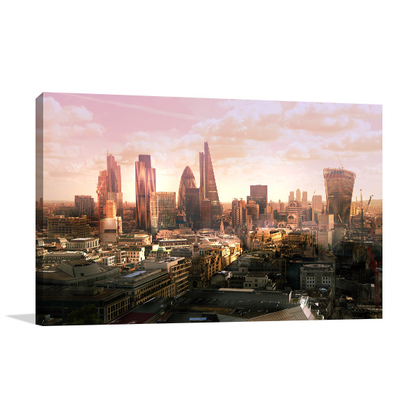 London Business District Wall Art