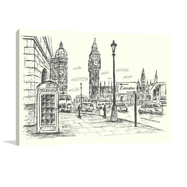 London City Scene Art Prints
