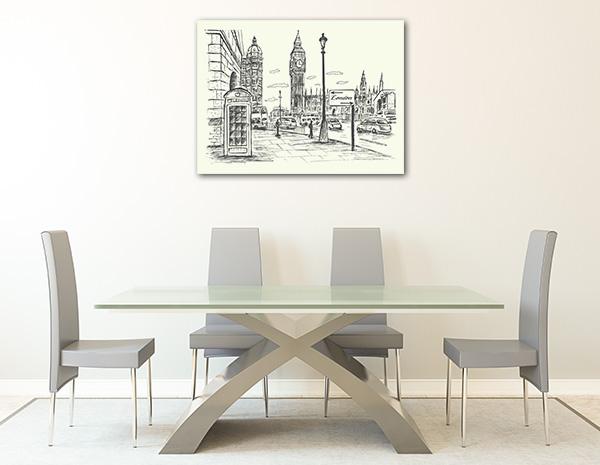 London City Scene Canvas Art