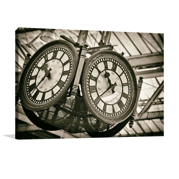 London Clock Print Artwork