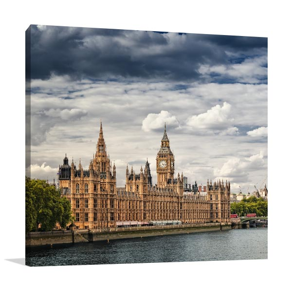 London Cloudy Day Canvas Prints