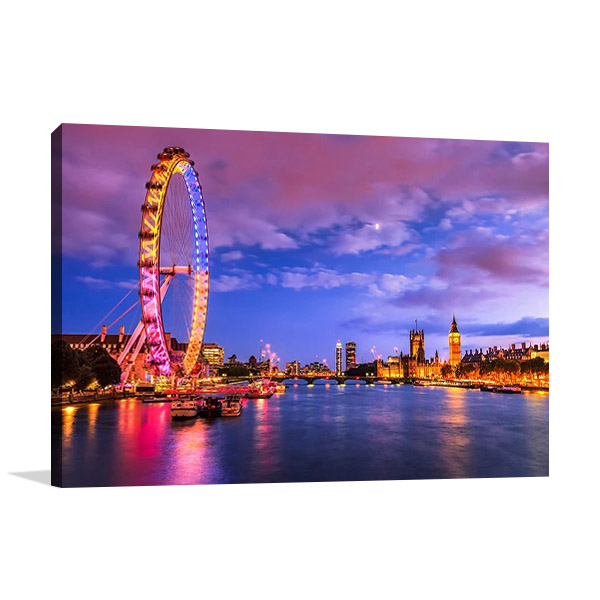 London Eye Twilight Canvas Print