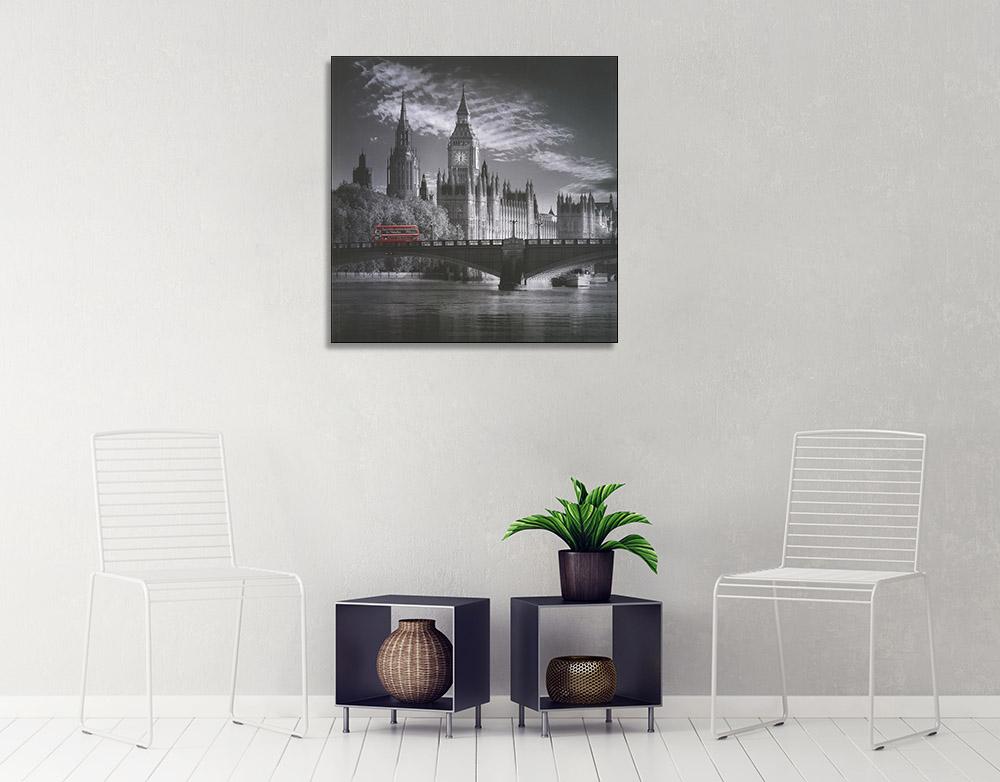 London Black and White Print