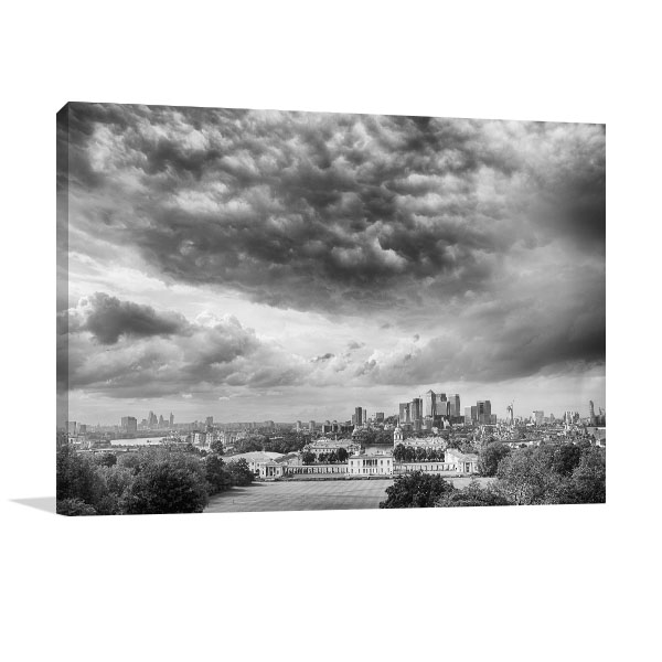 London in Black and White Canvas Art Prints