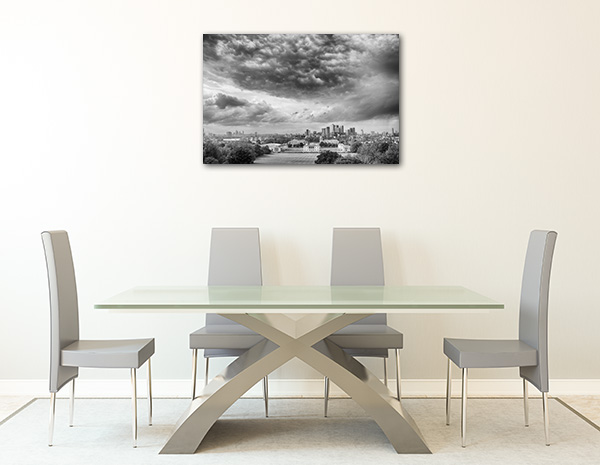 London in Black and White Prints Canvas