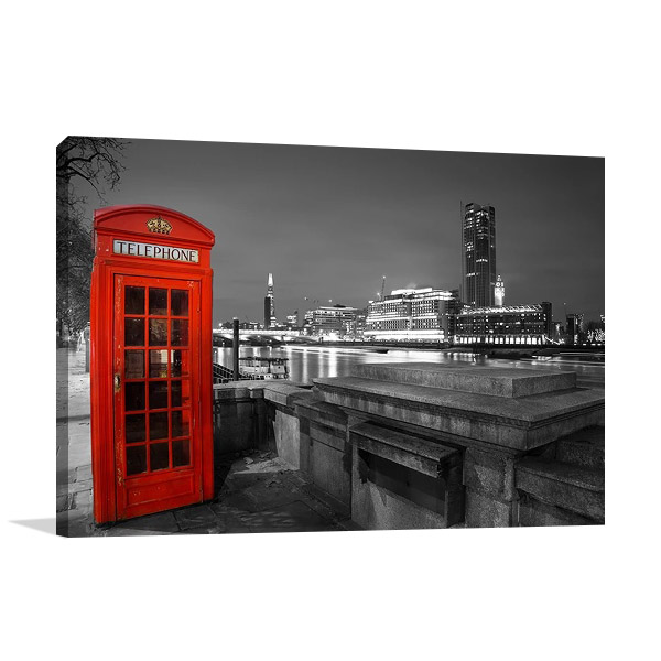London Red Telephone Box Print