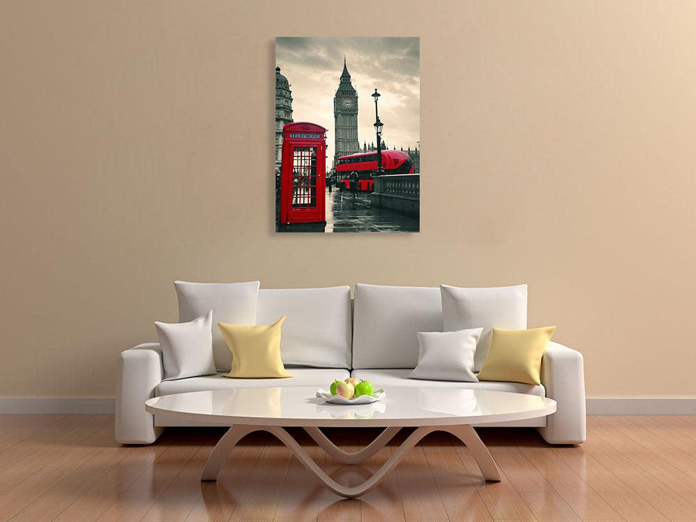 Travel London Print Canvas