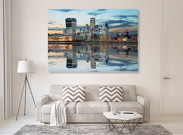 London Skyline Dusk Wall Art