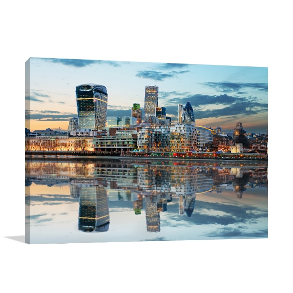 London Skyline Dusk Prints Canvas