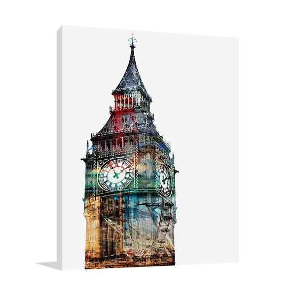 London Spirit Wall Canvas Print