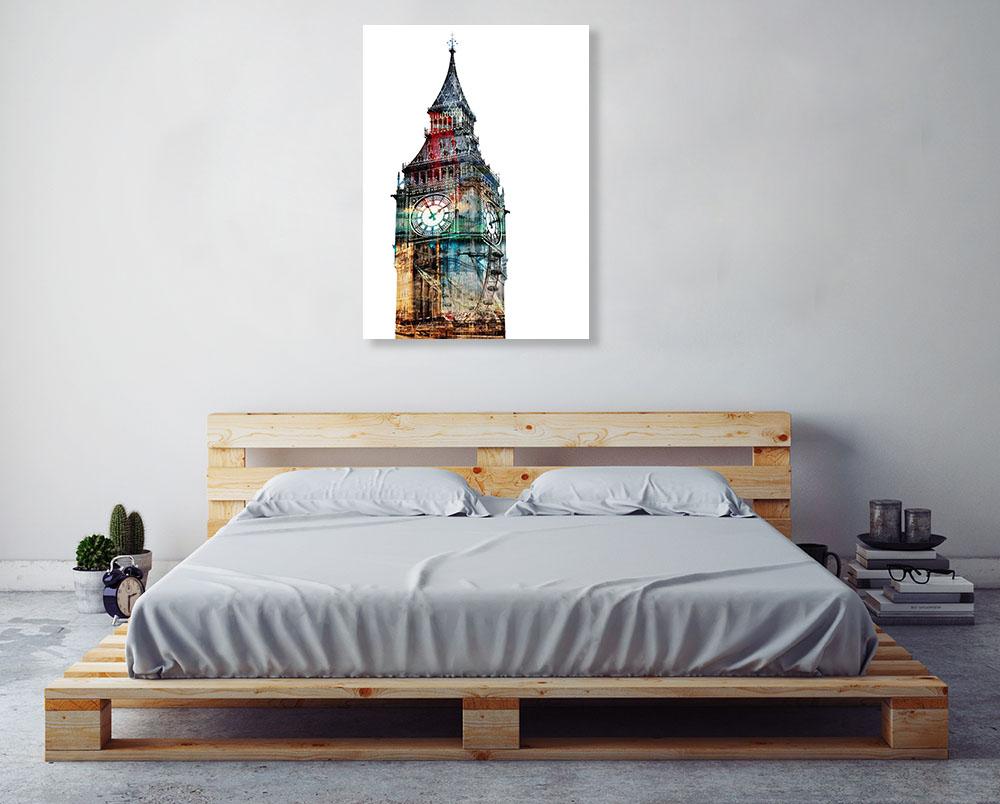 Contemporary London Big Ben Print
