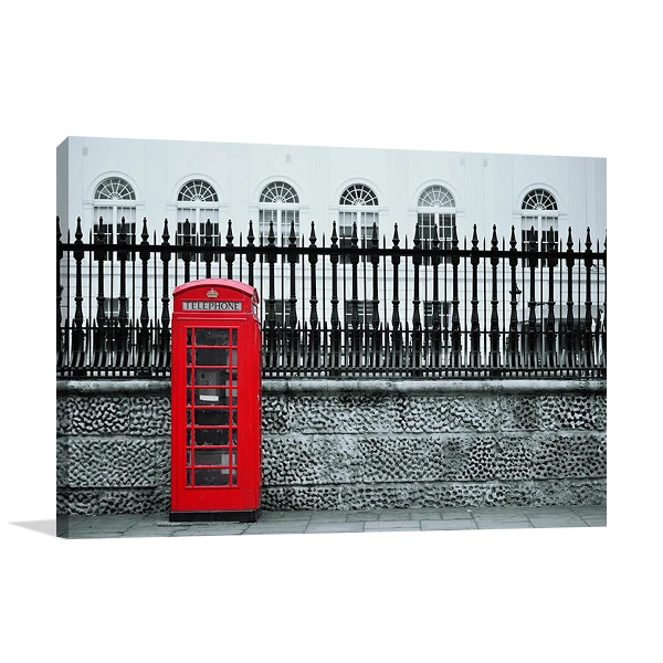London Street Art Print on Canvas
