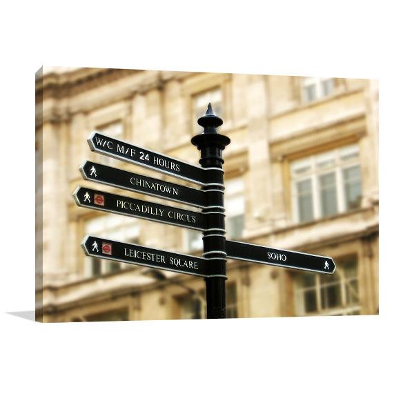 London Street Signpost Artwork