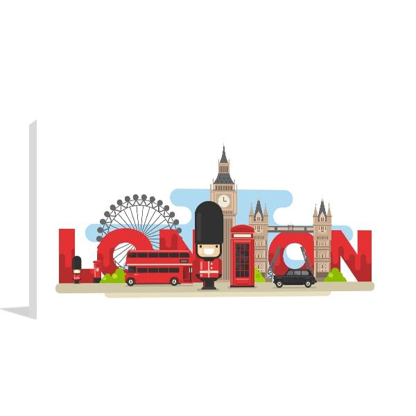 London Tourist Print Artwork