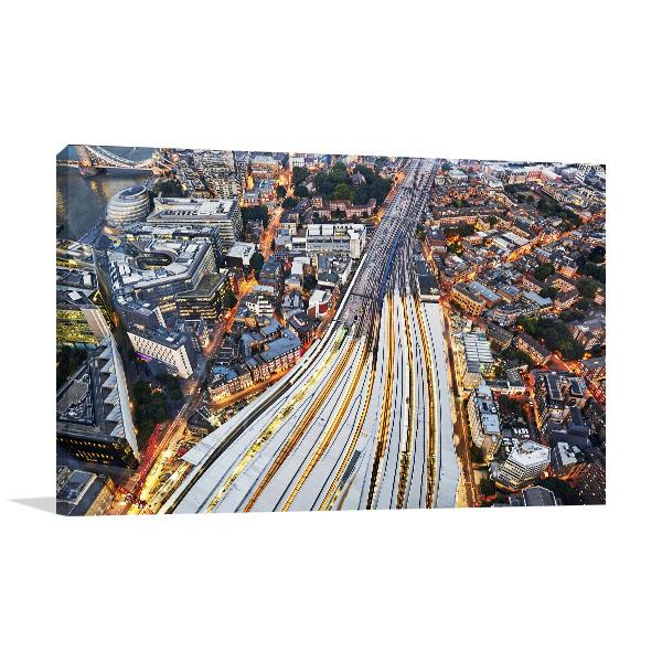 London Train Tracks Canvas Prints