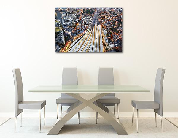 London Train Tracks Wall Art