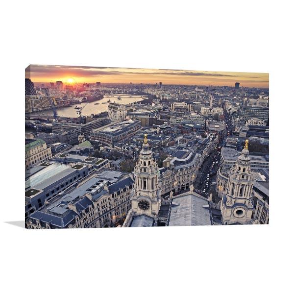 London Twilight Canvas Prints