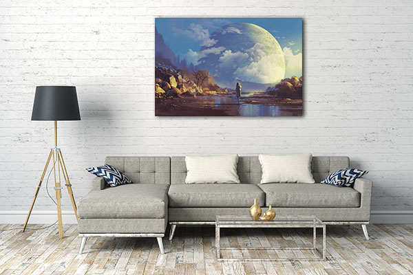 Lonely Woman Canvas Art Prints