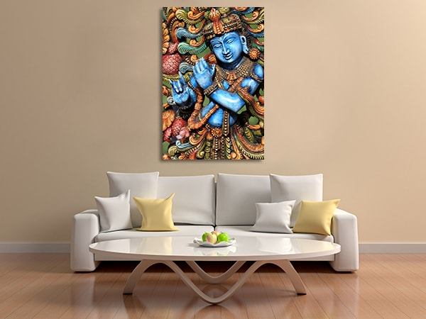 Lord Krishna Canvas Prints