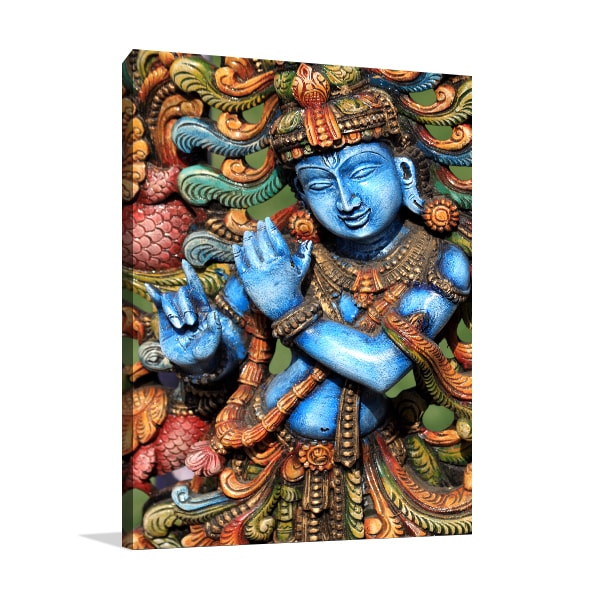 Lord Krishna Canvas Art Prints