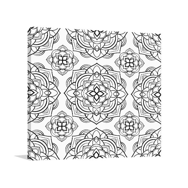 Lotus Pattern Canvas Art Prints