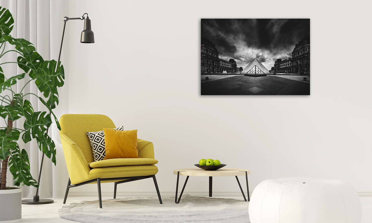 Online Black and White Canvas Print
