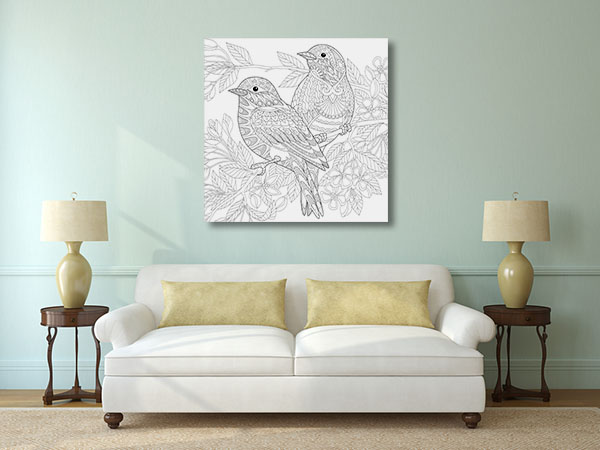 Love Birds Canvas Prints