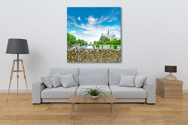 Love Locks in Notre Dame Canvas Prints