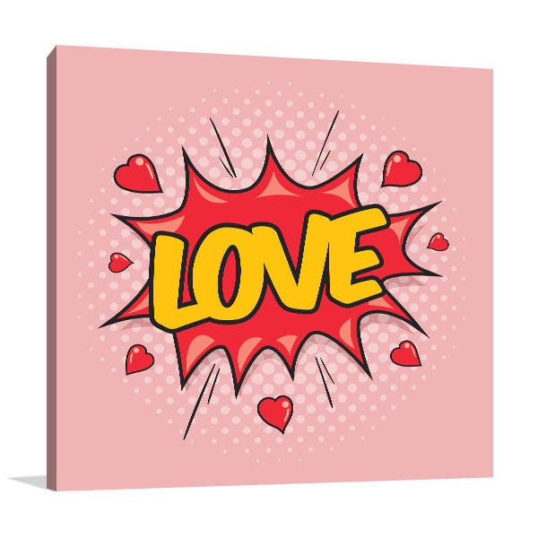 Love Pop Art Canvas Prints