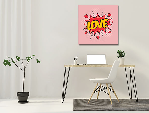 Love Pop Art Prints Canvas