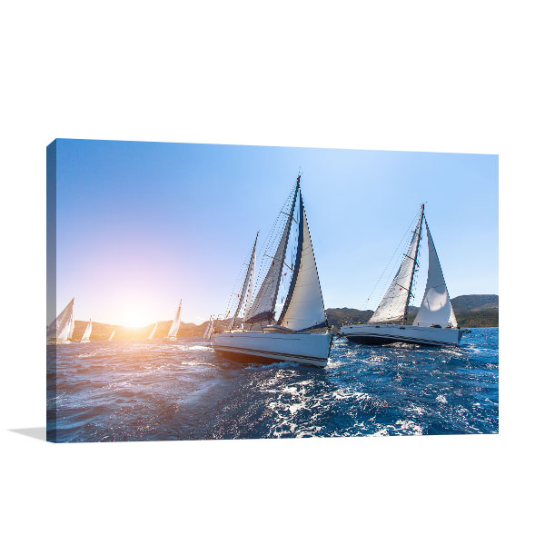 Luxury Yachts Sailing Wall Art