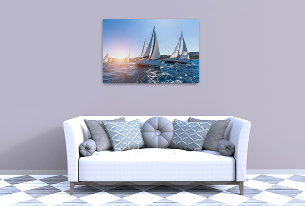 Luxury Yachts Sailing Canvas Prints