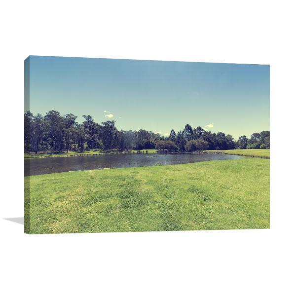 Macquarie Park Art Print Beautiful Lake