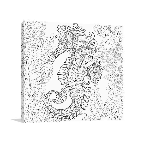 Magical Seahorse Canvas Art Prints