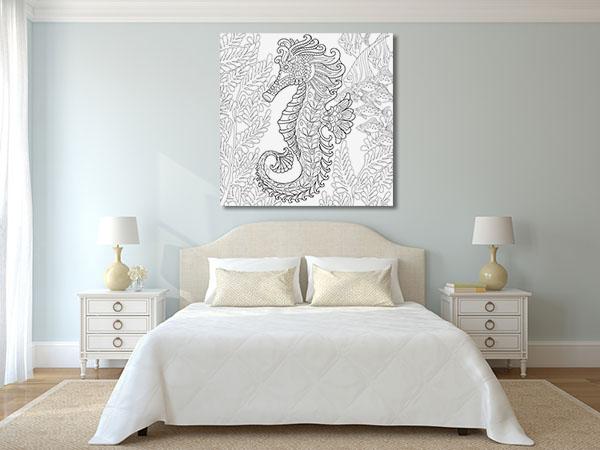 Magical Seahorse Wall Art