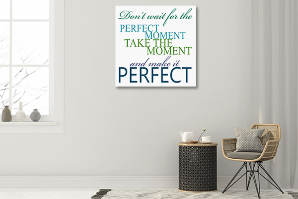 Make It Perfect Canvas Art Prints