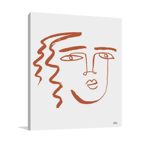 Making Faces V Terracotta Wall Art Print