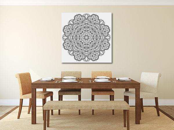 Mandala Flower Canvas Prints