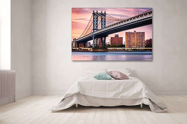 Manhattan Bridge Sunset Canvas Prints